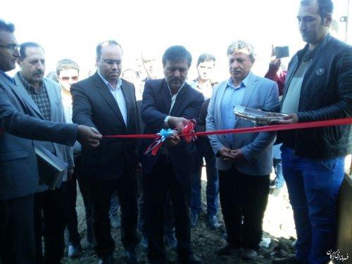 افتتاح و به بهره برداری رسیدن پروژه آبیاری تحت فشار اراضی کشاورزی روستای سلطان آباد