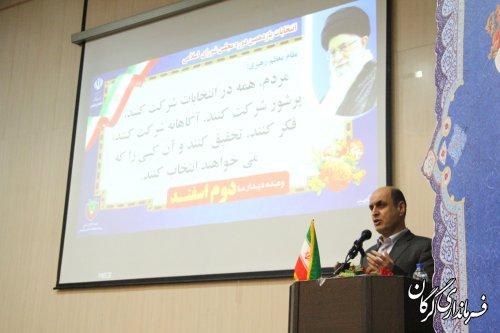 انتخاباتی با حضور گسترده مردم برای استان و کشور آثار مثبتی دارد