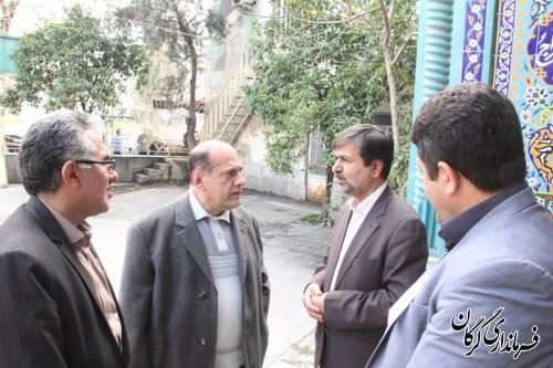 بازدید فرماندار گرگان از شعب اخذ رای سطح شهرستان گرگان