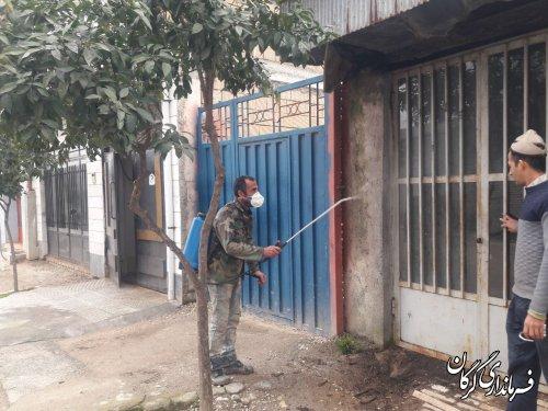 همه روستاهای شهرستان گرگان محلول پاشی و ضدعفونی شدند
