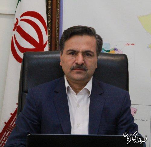 تبریک فرماندار گرگان به مناسبت اعیاد شعبانیه روز پاسدار و جانباز