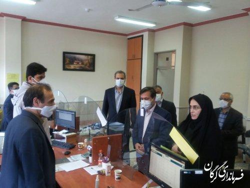 بازدید فرماندار گرگان از کاربران دریافت اطلاعات خانوار طرح غربالگری در شهر گرگان