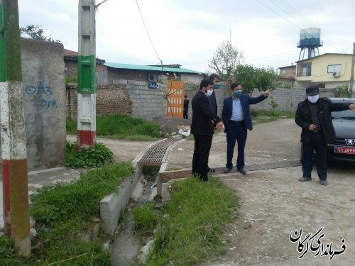 بازدید فرماندار گرگان از روستاهای دهستان انجیراب از توابع بخش مرکزی گرگان
