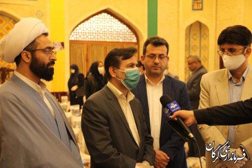 توزیع بیش از ۱۰۰۰ بسته حمایت به اقشار نیازمند شهرستان گرگان