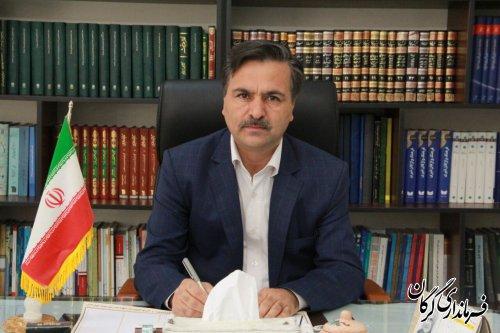 پیام تبریک فرماندار گرگان بمناسبت ۹اردیبهشت روز شورا