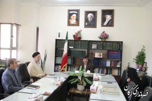 دیدار دکتر منتظری نماینده منتخب مردم در مجلس شورای اسلامی با فرماندار گرگان