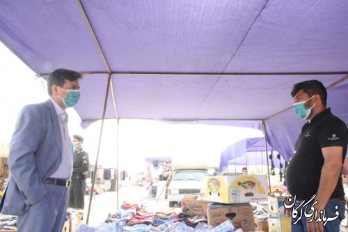 بازارهای هفتگی شهرستان با۵۰درصد ظرفیت بازگشایی شدند