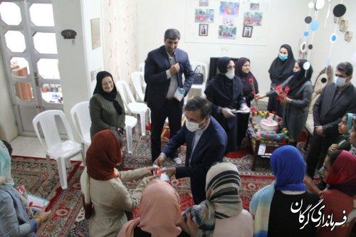 بازدید فرماندار گرگان از مرکز نگهداری دختران بدسرپرست و بی سرپرست فخرآفرینان