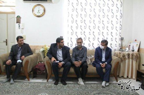 دیدار فرماندار گرگان از خانواده معظم شهید حبیبی نامقی