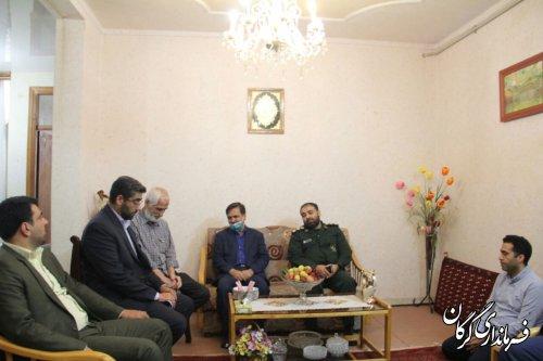 دیدار اعضای شورای تامین شهرستان گرگان با خانواده شهدای ترور در شهر گرگان