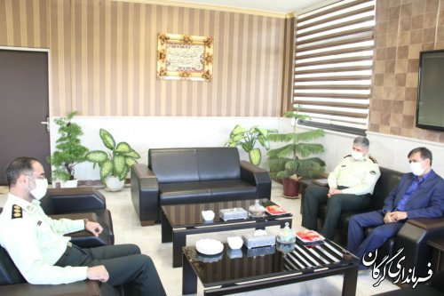 دیدار فرماندار گرگان با فرمانده انتظامی استان گلستان