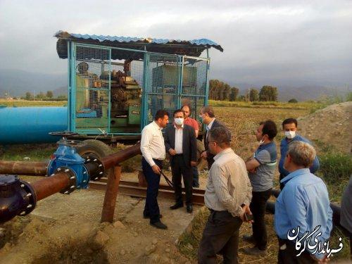 بازدید فرماندار گرگان از روند آبرسانی به روستاهای بخش بهاران