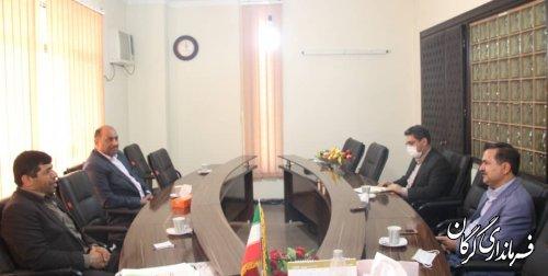 دیدار فرماندار گرگان با رییس هیئت مدیره خانه صنعت گلستان
