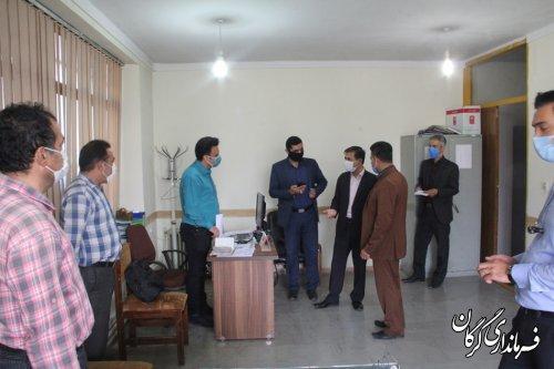 بازدید سرزده فرماندار گرگان از مدیریت جهاد کشاورزی شهرستان