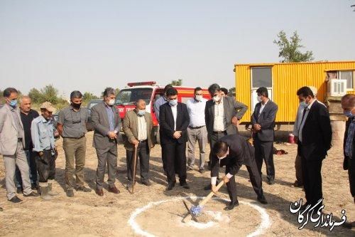 مراسم کلنگ زنی و  حفر یک حلقه چاه آب شرب در روستای کفشیری