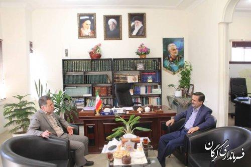 نشست فرماندار گرگان با رئیس سازمان مدیریت و برنامه ریزی گلستان