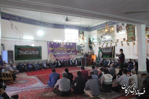 افتتاح متمرکز ٢٠٠ طرح هادی در ١٧٠ روستای گلستان