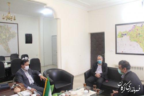 نشست محمد حمیدی فرماندار شهرستان گرگان با رئیس و نایب رئیس شورای اسلامی
