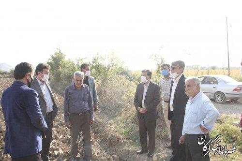 احداث و مرمت جاده بین مزارع در روستای اصفهانکلاته در دستور کار قرار میگیرد
