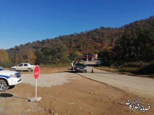 بازدید سرزده فرماندار گرگان از ایستگاه کنترل ورودی و خروجی استان گلستان در جاده توسکستان