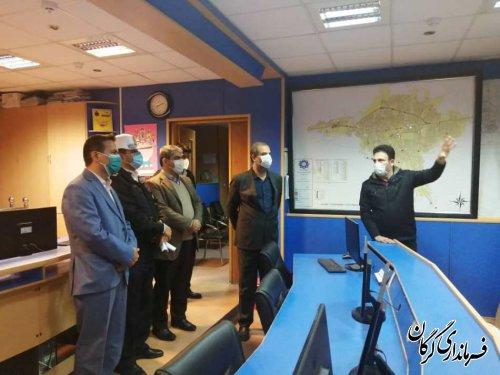 بازدید فرماندار شهرستان گرگان از مرکز کنترل ترافیک گرگان