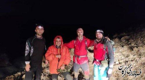 نجات دو کوهنورد گرفتار شده در ارتفاعات گاو کشان شاهکو