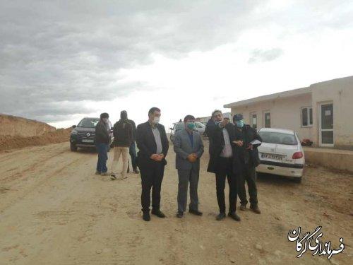 بازدید فرماندار از روند اجرای پروژه شهربازی مدرن گرگان