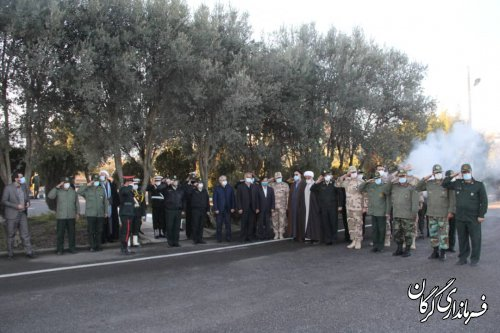 پیکر شهید مدافع امنیت استان گلستان تشییع شد
