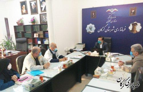 نشست فرماندار گرگان با رئیس کمیته امداد منطقه یک شهرستان