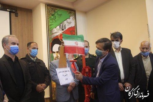 آیین نواختن زنگ گلبانگ انقلاب اسلامی به مناسبت دهه فجر در گرگان