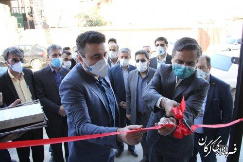 افتتاح طرح تولیدی البسه بیمارستانی و تولید ماسک استاندار N95 در روستای نصرآباد شهرستان گرگان