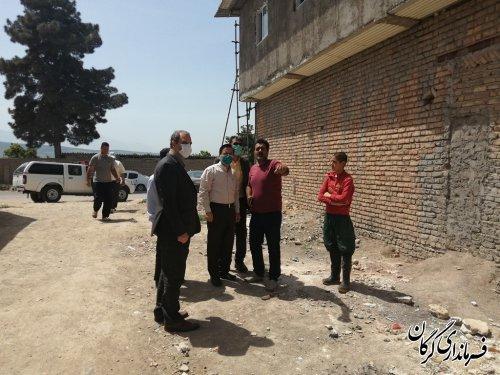 بازدید میدانی فرماندار گرگان از پروژه های جهاد کشاورزی در شهرستان