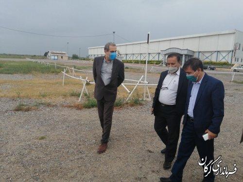 بازدید فرماندار گرگان از نمایشگاه بین المللی و استادیوم ورزشی کریم آباد؛ با هدف بررسی مکان انجام واکسیناسیون کرونا