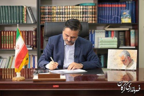 پیام تبریک مهندس حمیدی فرماندار گرگان بمناسبت روز پزشک