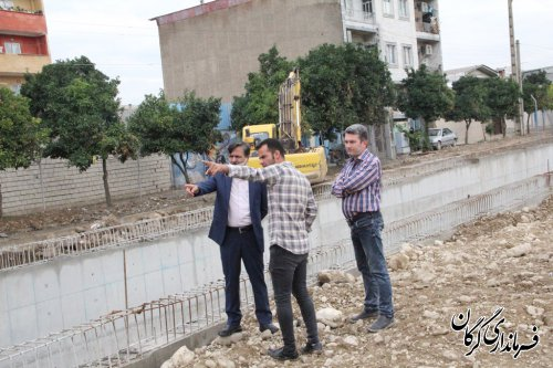 بازدید فرماندار مرکز استان از روند ساخت زیرگذر انجیراب در گرگان